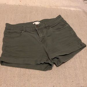 H&M Olive Green Shorts